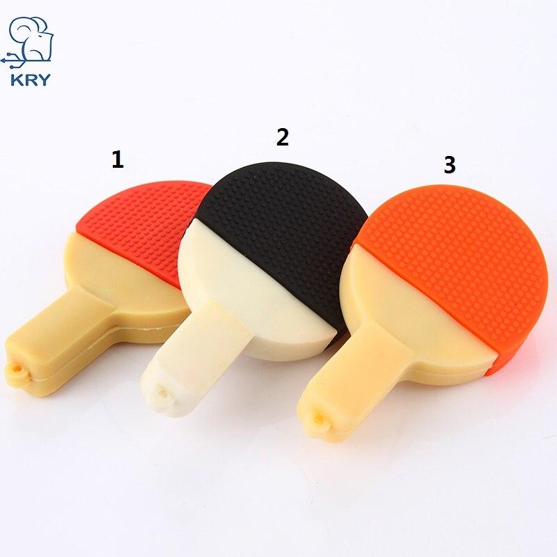 KRY mini cartoon table tennis racket 2.0 flash drive USB 4GB 8GB 16GB 32GB 64GB memory stick memory card U disk fashion gift