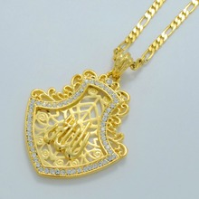 Classic Allah Necklaces for Women's/Men's Gold Color Islam Pendant Jewelry Middle East Jewellery Arabic Gifts #001819
