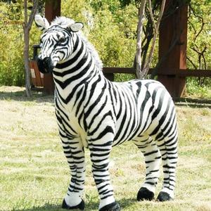 Детская плюшевая игрушка BOLAFYNIA, черно-белая полоска, лошадка zebra, для детей, подарок на Рождество, день рождения