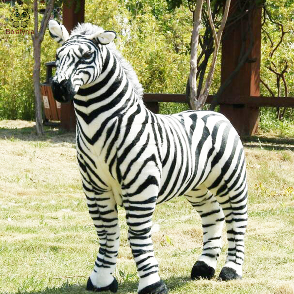 BOLAFYNIA Children Plush Stuffed Toy Black And White Strip Zebra Horse Baby Kids Toy For Christmas Birthday Gift