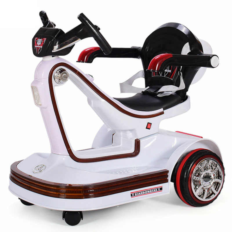 Electric Vehicles For Kids >> Music Led Children Electric Vehicles Remote Control Scooter Bumper Car Rotating Baby Electric Drift Car For Kids Ride On Toys