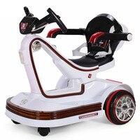 Музыкальный светодиодный Детский электромобиль, пульт дистанционного управления, бампер скейтборда, вращающийся автомобиль, электрически
