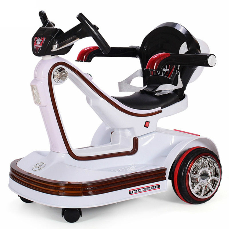 Electric Vehicles For Kids >> Music Led Children Electric Vehicles Remote Control Scooter Bumper