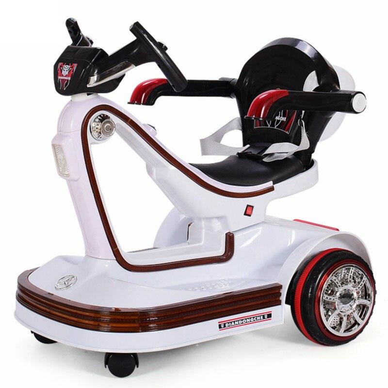 Musique LED enfants véhicules électriques télécommande Scooter pare-chocs voiture rotative bébé électrique dérive voiture pour enfants monter sur des jouets