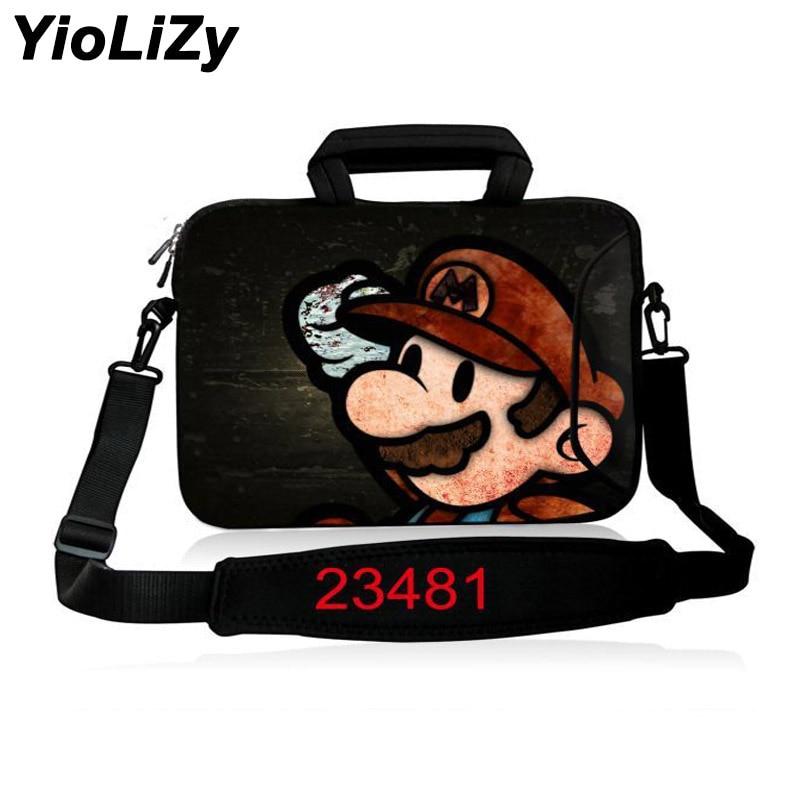 waterproof Laptop Shoulder Bag 17.3 15.6 14 13.3 11.6 10 inch Neoprene Notebook Sleeve Messenger Bag Men Women Handbag SB-23481