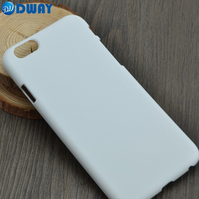 best loved b47c8 8a388 US $25.0 |3D Sublimation Blank Cover Case for iPhone 6 6S DIY PC Plastic  Hard Printed White Phone Case 20PCS/LOT-in Fitted Cases from Cellphones &  ...