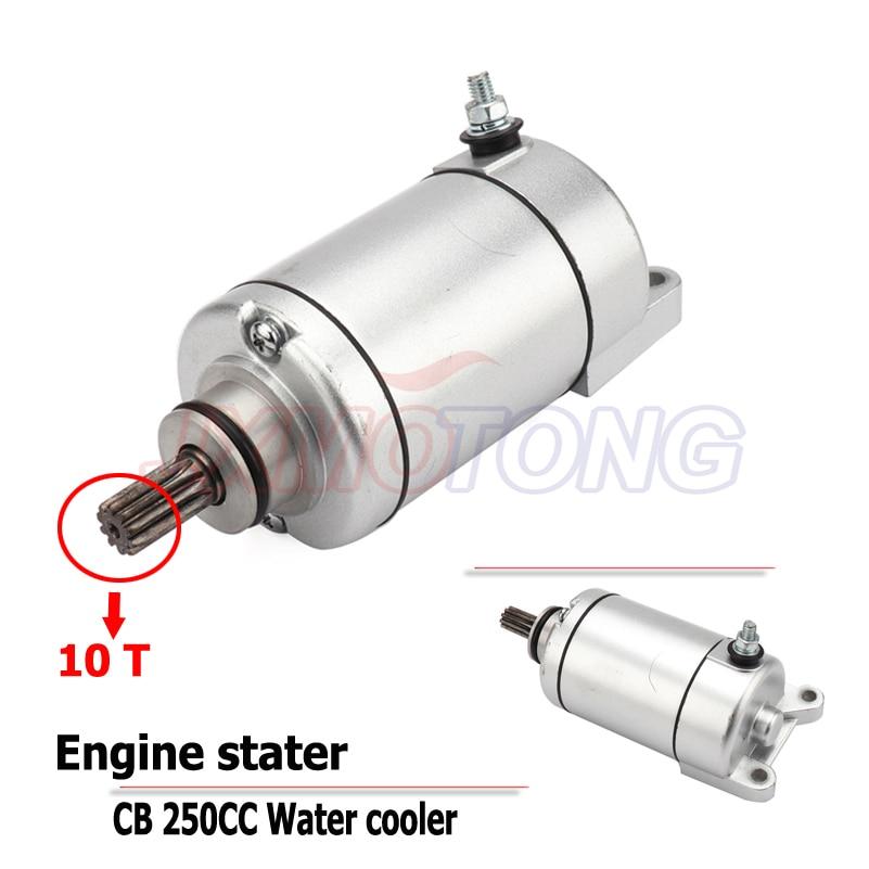 10T CB250 Water Cooled Engine Stater Electric Starter Motor For Kayo Apollo Bosuer Xmotos 250cc Dirt Bike Motocross