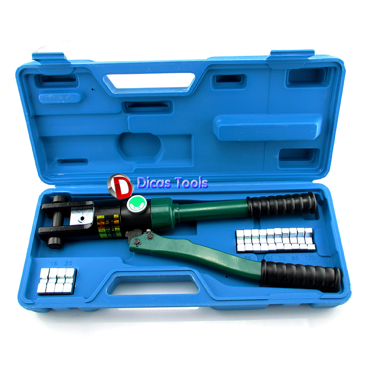 Manual hydraulic crimping tool wire terminal crimper 120mm2 hydraulic knockout tool hydraulic hole macking tool hydraulic punch tool syk 15 with the die range from 63mm to 114mm