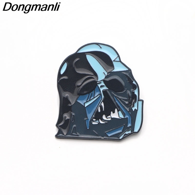 44f695c29ea P3067 Dongmanli Star Wars Darth Vader Cool Metal Enamel Pins and Brooches  for Women Men Lapel Pin backpack bags Hat badge Gifts