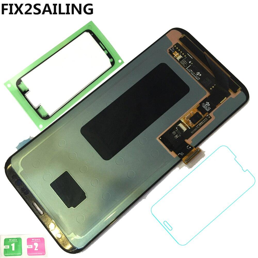Новый ЖК-дисплей Дисплей 100% тестирование работы Сенсорный экран сборки для Samsung Galaxy S8 плюс g955 g955f g955a g955t G9550 черный