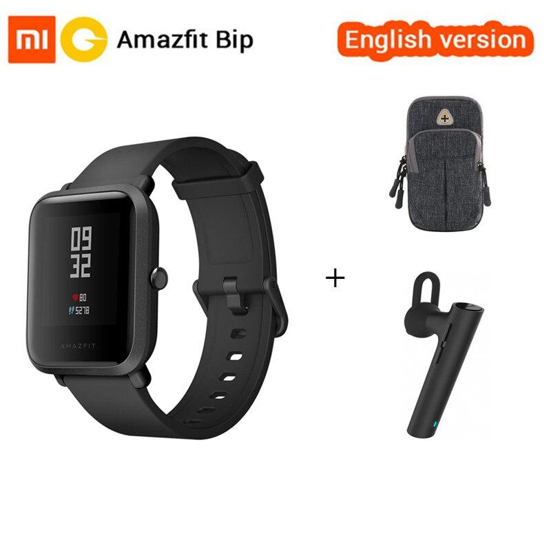 Английская версия Оригинальный Xiaomi Huami Amazfit Bip Смарт-часы gps Спортивные Часы сердечного ритма Smartwatch 45 дней в режиме ожидания