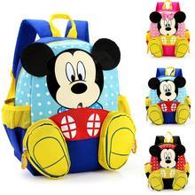 Детские школьные сумки для детского сада с изображением Микки Мауса,, детский рюкзак с Минни, водонепроницаемые школьные сумки, ранец для мальчиков и девочек