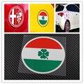 Alfa Romeo quatrefoil зеленый дельта Автомобиля Боковой Fender Эмблема Значок Стикер для 4C 147 156 166 159 Паук крышка бака Наклейки