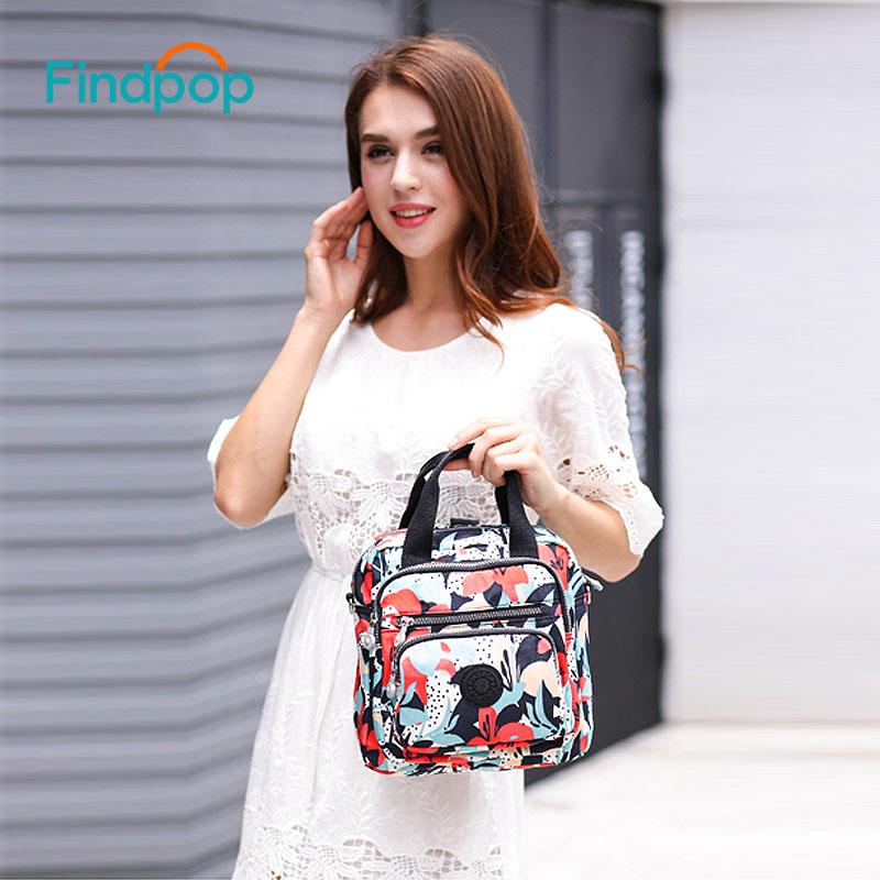 Findpop Floral Printing Handbags Women Crossbody Bags 2018 Multifunction Small Canvas Handbags Waterproof Vintage Crossbody Bags стоимость