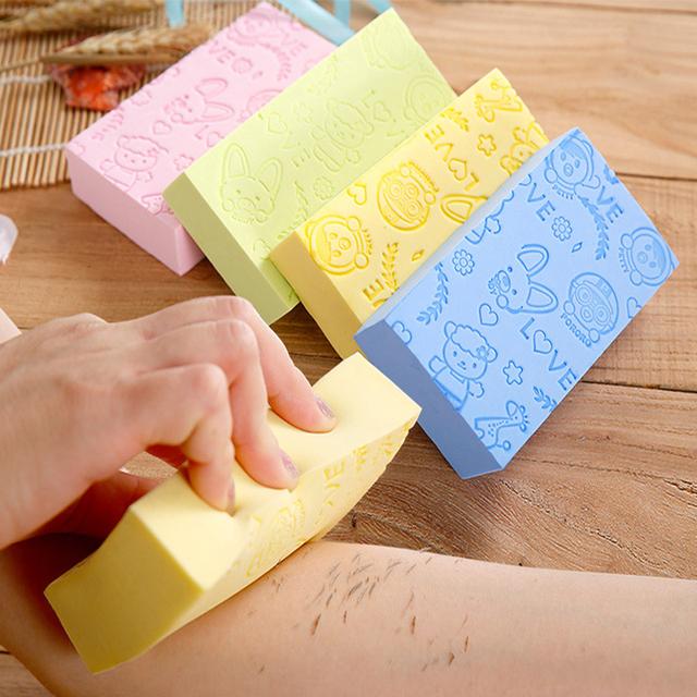 Bath sponge Printed Scrub Shower Baby Bath Scrubber Face Cleaning Sponge