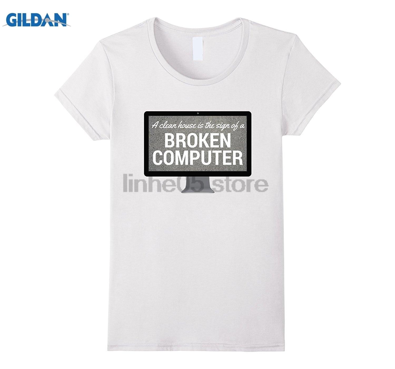 Возьмите чистый дом знак сломанной компьютера футболку Для женщин футболка
