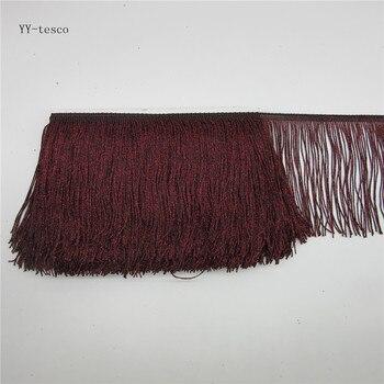 10 м кружевной бахромой отделкой кисточкой Wine red полиэстер Fringe обрезки латинские этап платье одежда аксессуары кружевной лентой 15 см широкий