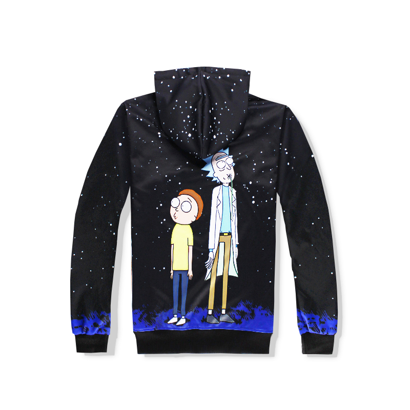 free shipping 2018 Autumn Newest fashion Women/Men Hoodie Sweatshirt Funny Rick and Morty 3d print Crewneck hoodies+joggers pan