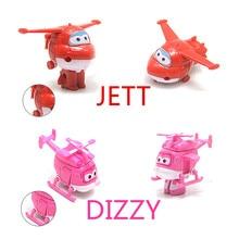 8 pcs/lot Super Sayap Mini Pesawat ABS Transformasi Robot Mainan Aksi Angka Super Sayap Jet Animasi mainan untuk hadiah Natal