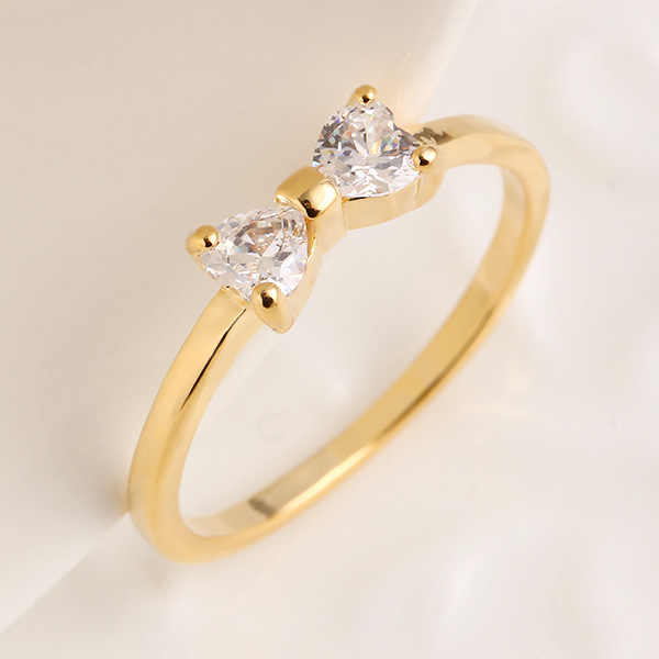 Высота  Hyde Австрия Кристалл Кольца золото Цвет палец лук кольцо  обручальное Циркон Кристалл Кольца женщин 851468ad5e889