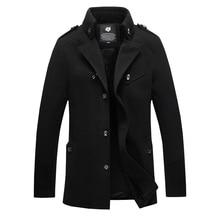 Winter Jacket Men New Fashion Warm Thicken Mens Jackets and Coats Casual Men's Outerwear Overcoat Men Woolen Trench Coat 3XL 4XL