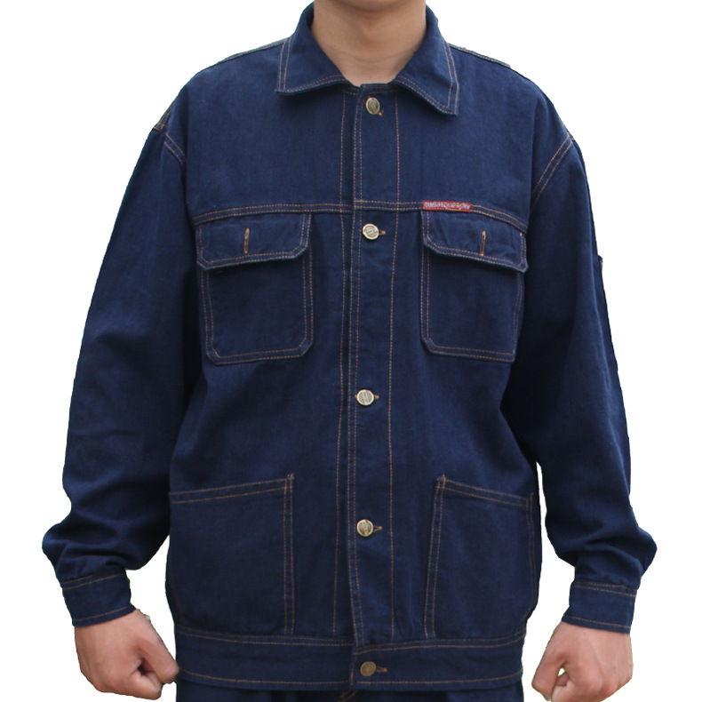 Coveralls men Work Clothing Sets Denim Jackets And Pants Factory Labor Clothes Workers Uniforms Plus Size S-4XL men s plus size s m l xl xxl 3xl 4xl denim shorts casual pocket overalls loose jumpsuits bib pants