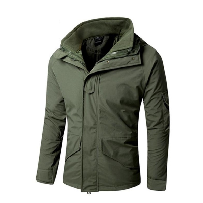 Men Winter Camouflage thermal thick Coat + liner parka Military Tactical Hooded 2in1 Jacket Waterproof Hunting Hiking outwear winter men jacket new brand high quality candy color warmth mens jackets and coats thick parka men outwear xxxl