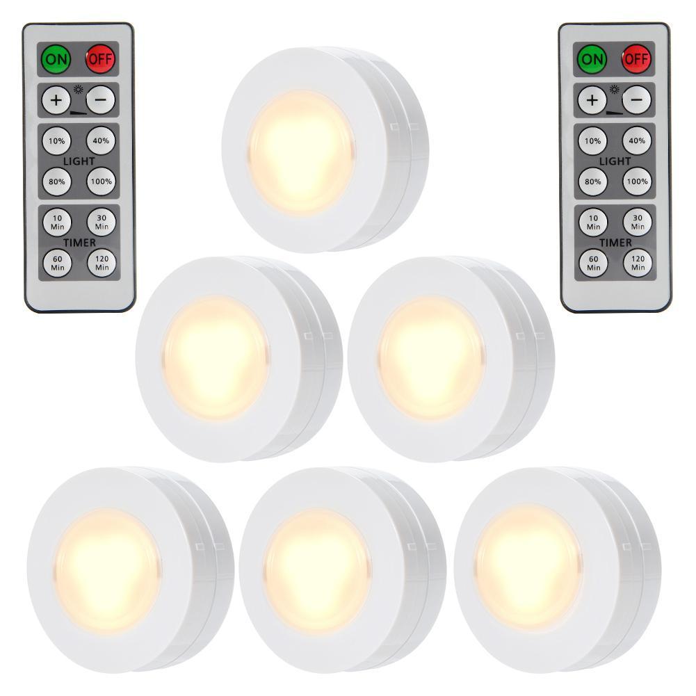 Remote Control Cabinet Light 6pcs