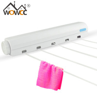 Clothes Line Retractable Drying Rack ABS Multi Functional Telescopic Towel Stainless Steel Rack Hotel Bathroom Accessories