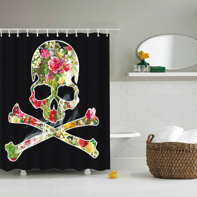 Online Shop Skeleton Style Shower Curtain Happy Halloween Bathroom Curtain  Classic Waterproof Polyester Skull Bath Curtain Home Decor | Aliexpress  Mobile