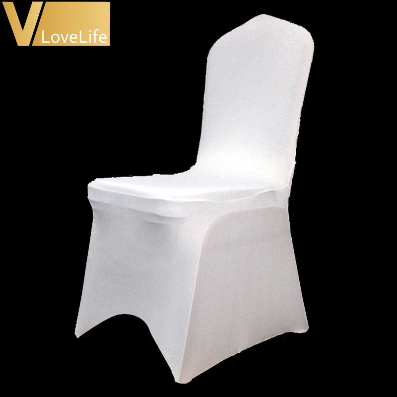 One Stretch Elastic Universal Spandex Lycra Chair Covers WhiteBlackIvory for Wedding Party Banquet Hotel Venue Decor Supplies