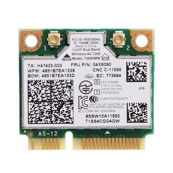 Двухдиапазонный процессор для IBM Thinkpad Intel Wireless-AC 7260 7260HMW 802.11ac Mini PCI-E Wifi + Bluetooth 4,0 Wlan карта FRU 04X6090