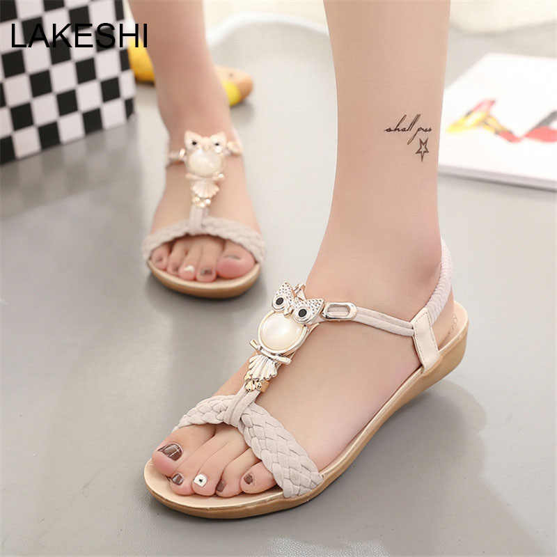 68a22f6ad ... New Women Sandals Summer Fashion Flip Flops Female Sandals Flat Shoes  Bohemia Casual Ladies Beach SandalsWomen ...