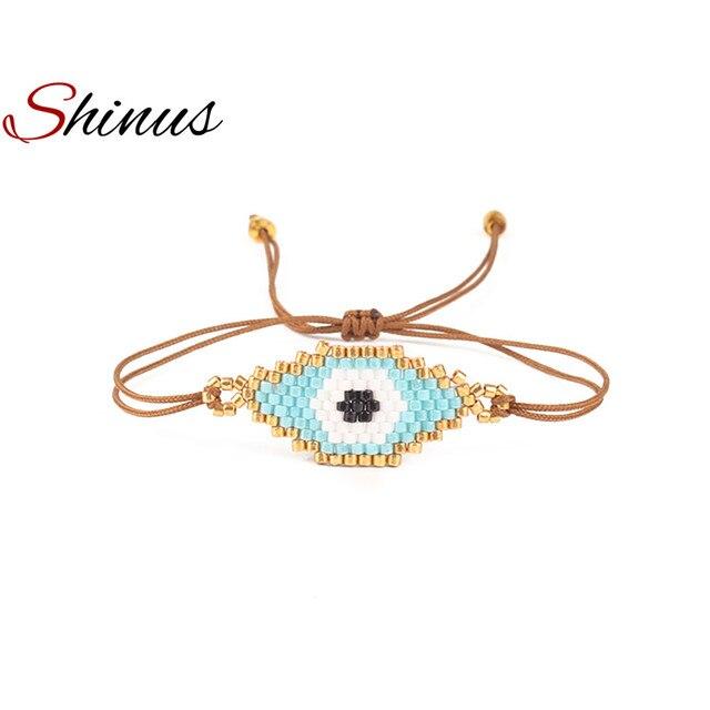 Shinus Bösen blick Armband MIYUKI Armbänder Pulseras Türkische Evil Eye Armbänder Für Frauen Bohem Bileklik Sommer Schmuck 2019