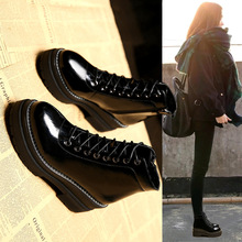2018 New women Martin Boots Female British Style Student Korean Version Shoe Winter Shoes Increase Fashionable Mature, non-slip