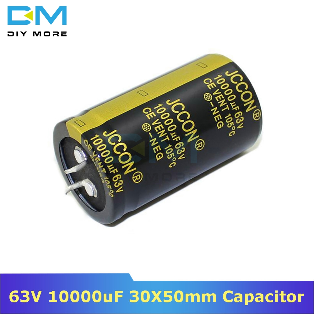 63V 10000uF 30X50mm 30X50 Aluminum Electrolytic Capacitor High Frequency Low Impedance Through Hole Capacitor 30*50mm Diymore
