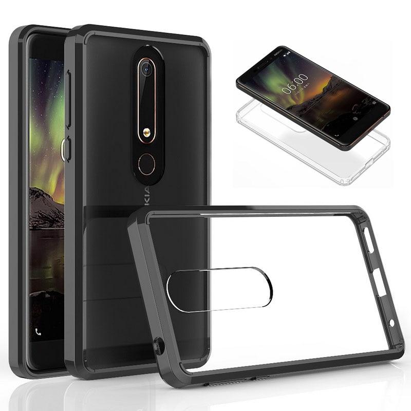 For Nokia 6.1 Case Hot Crystal Hybrid Bumper Fundas For Nokia