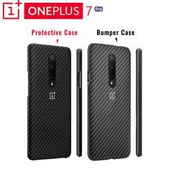 Original OnePlus 7 Pro Schutzhülle Karbon Sandstein EINE Perfekte Spiel Zuverlässige Schutz Dezenten Profil Erhöhten Rand