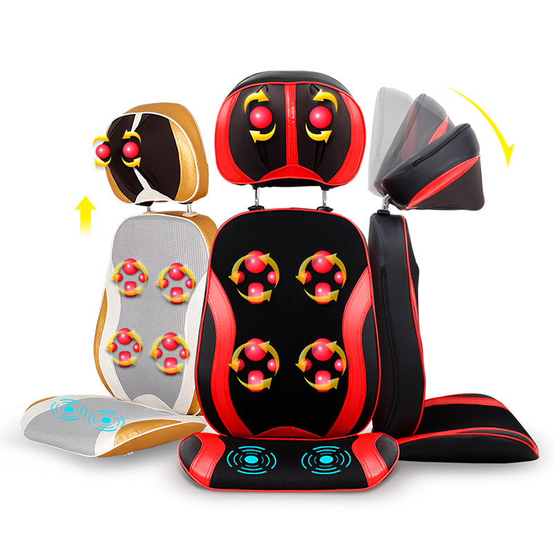 5D Electric back massager vibrates vibration Cervical home multifunctional massage device full-body neck pillow massage martelo electric back massager vibra cervical malaxation massage device multifunctional pillow neck household full body massage chair