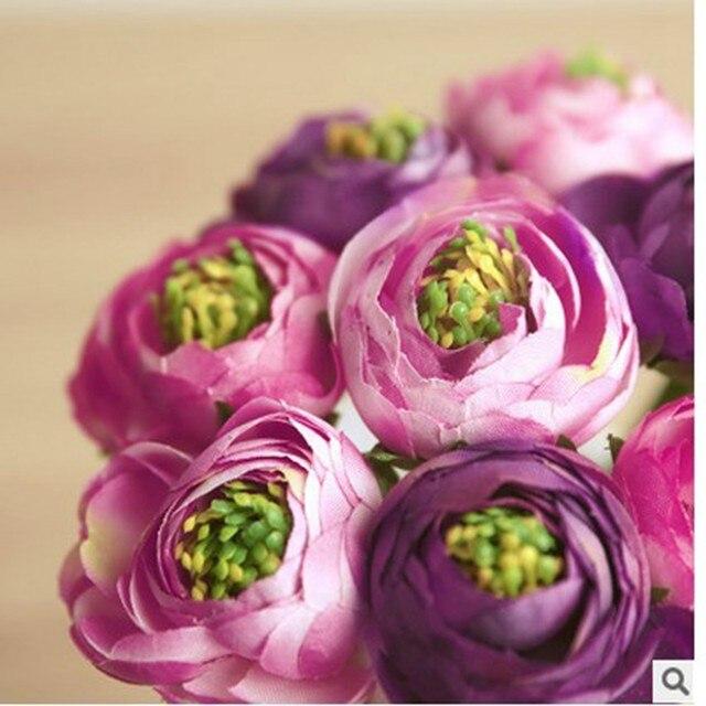 Online Shop 9pcs/ bouquet Real Touch Silk Flowers Simulation ...