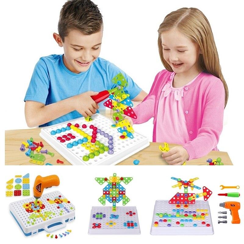 Kids Boy Building Tool Kits Set DIY Construction Toy Plastic Great Gift W