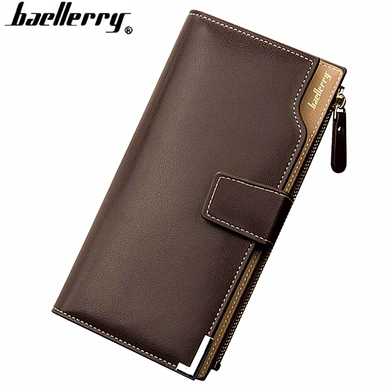 Baellerry high quality Brand Leather Long Men Wallets Casual Male Clutch Purse with Coin Pocket Credit Card Holders Carteira