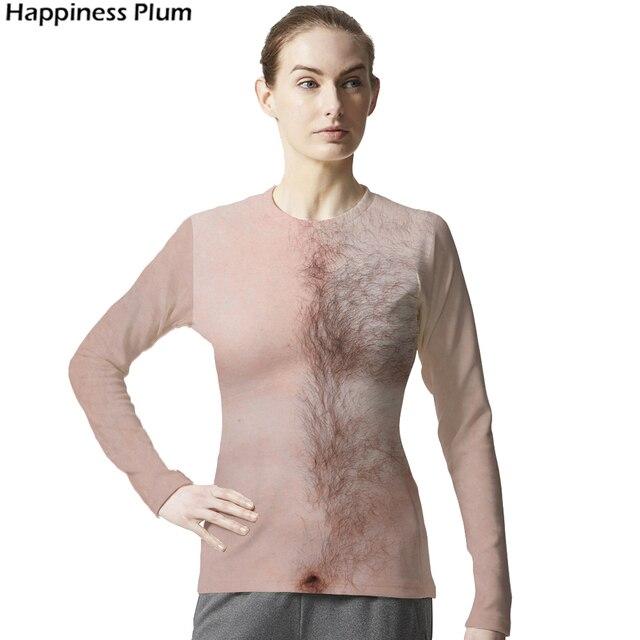Lustige T Shirt Brust Haar Shirt Muskel Hip Hop 3d T Shirt Sommer