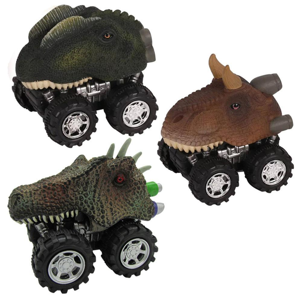 LeadingStar Mini Dinosaur Car Toy Spring Pull Back Car Model Vehicle Wind-up Toys Kids Educational Toy