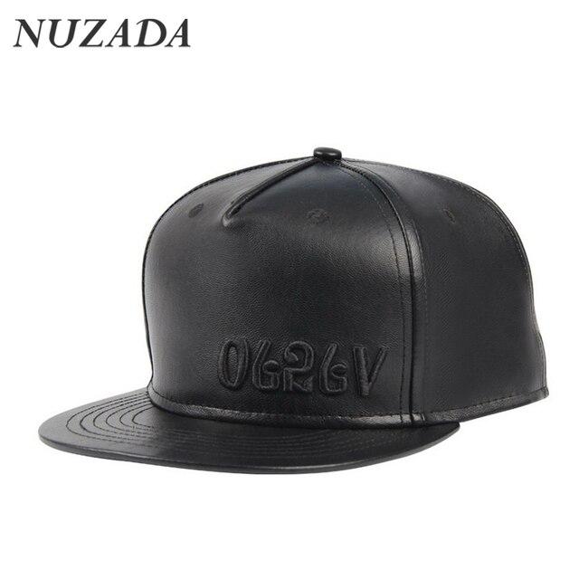 ec125b2ab434d2 Brands NUZADA Quality PU leather Classic Embroidery Retro Men Women Sports Hat  Hats Baseball Cap Hip