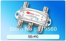 Envío gratis original Gecen 4×1 Satélite DiSEqC Gecen GD-41C Interruptor para el receptor de satélite con alta calidad