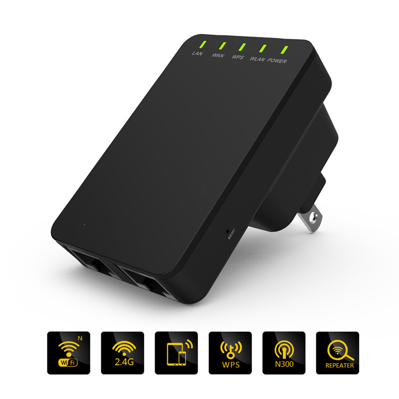 WIFI Extender 300mbps Ap/router Repeater Network-Antennas Signal-Booster 2 Wireless 3dbi
