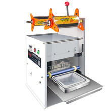 Semi-automatic food bowl sealing machine, plastic packaging take-out packaging, hand-pressed fast food box sealing machine