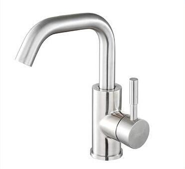 SUS304 Stainless Steel basin mixing faucet , Rotated wash basin faucet hot and cold, Bathroom sink basin faucet mixer water