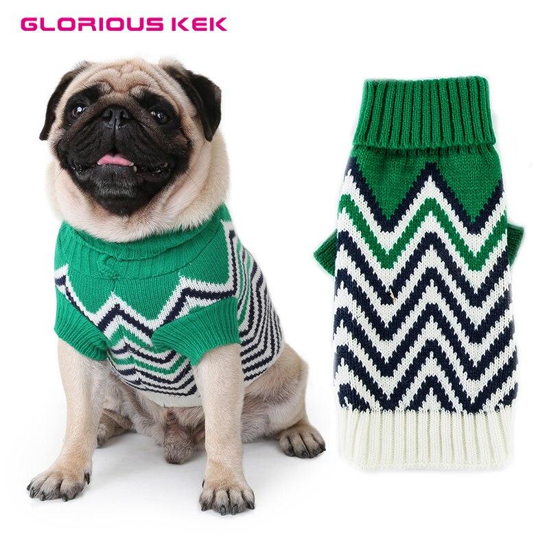 GLORIOUS KEK Maglioni Cane Inverno Caldo Vestiti Del Cane di Moda Knit Maglioni Dell'animale Domestico per le Piccole Medie Cani Pug Chihuahua Maglieria XS-XXL